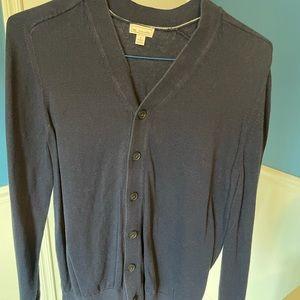 GAP Men's Cardigan Sweater, L, Navy